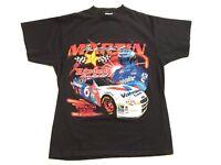 Vintage 90s TULTEX Mens Large Mark Martin Hardees Roush Exide Racing Race Shirt