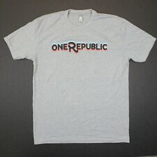 One Republic Santa Logo Christmas Tee - Next Level Apparel T-Shirt - Gray - L