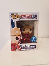 Pop! Captain america Civil war  - Iron man Unmasked  ex