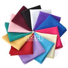 "100pcs Linen Polyester Napkins Handkerchief Wedding Supply Party Decor 12"" X 12"""
