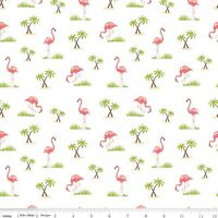 Riley Blake Novelty Pink Flamingo - 100% Cotton FQ Half or Meter FREEPOST!