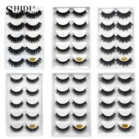 5 Pairs 3D Mink Eyelashes False Eyelashes Natural False Lashes Faux Cils Cilios