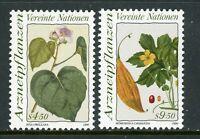 UN-Vienna Scott #101-102 MNH Medicinal Plants FLORA CV$3+