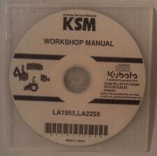 FACTORY ORIGINAL KUBOTA TRACTOR LOADER ATTACHMENT WORKSHOP CD/DVD LA1955,LA2255