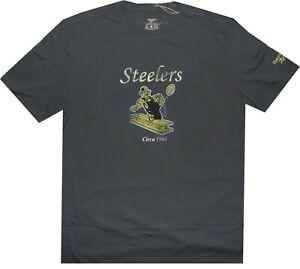 Pittsburgh Steelers Throwback Logo Reebok Vintage Slim Fit Shirt New tags