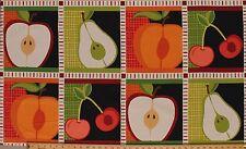 "24"" X 44"" Panel Metro Market Harvest Fruits Food Cotton Fabric Panel D477.05"