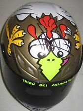 "Valentino Rossi signed ""Chicken"" 1/2 Scale Helmet + COA & Photo Proof signing"