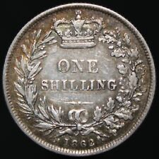 More details for 1862   victoria one shilling   silver   coins   km coins