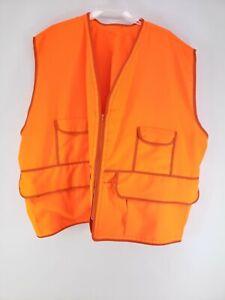 Orange Hunter Safety Vest Mens Size 7XL-8XL Large Pockets (G1)