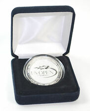 US OPEN 2008 40 YEARS OPEN ERA SILVER OVERLAY MEDALLION LIMITED EDITION COIN