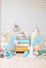 3x5 Photography Backdrop Balloon Baby Ist Birthday Party Prop Background Vinyl