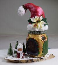 Weihnachtshaus, Dekoration, LED- Haus, Weihnachten, Glas, Tannen, Handarbeit