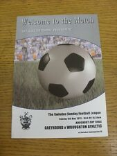 06/05/2012 Swindon League Knockout Cup Final: Greyhound v Wroughton Athletic [At