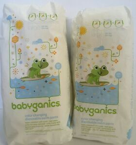 Babyganics Color Changing Disposable Swim Pants UPF50+ Size Large (1 Pack)