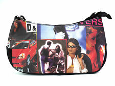 HIGH QUALITY LADIES RETRO STYLE PICTURE OVER SHOULDER HANDBAG TOTE PURSE