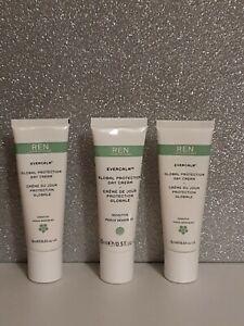 REN Evercalm Global Protection Day Cream 3 x 15ml  sealed travel sizes new