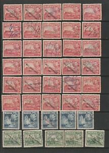 Malta 1938/47 Fine selection of KG VI Fiscally cancelled stamps Fine Used