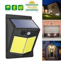 96 LED Solaire Détecteur de Mouvement Pir Eclairage Extérieur Jardin Sécurité