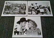 ANNIE GET YOUR GUN 3 b&w photos / stills 1962 reissue BETTY HUTTON - HOWARD KEEL