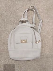 Mini backpack beige faux leather New Look