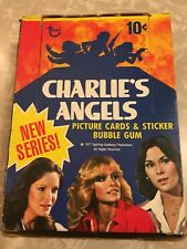 Vintage 1977 Charlie's Angels 36 Packages Complete Box Trading  Cards Stickers
