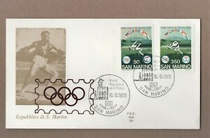 OLYMPICS SAN MARINO Cover 1985  - PICTORIAL CANCELS -  NO ADDRESS