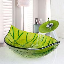 Monobloc salle de bain Lavabo en verre en cascade huilé robinet d'évier