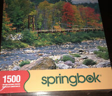 NEW SEALED Springbok Jigsaw Puzzle COLORFUL CROSSING 1500 Scenic Bridge River