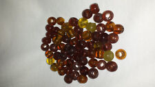 Glass Beads yellow and brown 120g