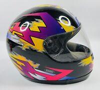 Vtg Shoei Elite Series Helmet Snell M90 Dot Clear Visor - Size  Medium