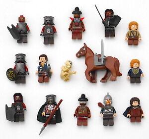 LEGO The Hobbit LOTR 15 Pc Assorted Authentic Minifig Lot Gollum Urak Samwise
