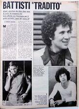 LUCIO BATTISTI_ RICCARDO COCCIANTE => Ritaglio 1  pagina 1980 / Italian CLIPPING