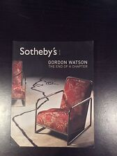 GORDON WATSON ~ The end of a Chapter. Sotheby's auction May 2006 with prices.