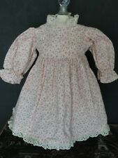 Thick Cotton Floral Antique Reproduction Dress for China Head or Bisque Dolls