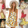 Womens Summer Boho Casual Short Maxi Evening Party Cocktail Beach Dress Sundress