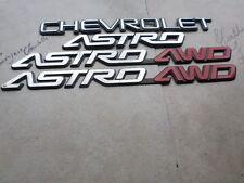 96-05 Chevy Astro 4WD Door 15724742 Logo Trunk 15724741 Decal 15998983 Emblems
