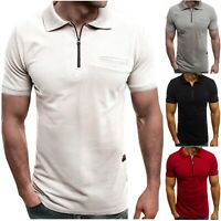 Men's Slim Fit Polo Shirt Short Sleeve Casual Summer Golf Sport T-Shirt Tops Tee