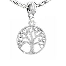 Family Tree Dangle Charm Beads for Snake Chain Charm Bracelet