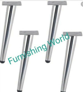4 x angled silver leg replacement uk furniture legs Sofa Chair Cabinet stool