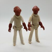 Vintage Star Wars Admiral Ackbar Action Figure 1982 Kenner LOT OF 2