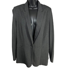 NWT MNG Gray Blazer Padded Jacket Women's Size Large