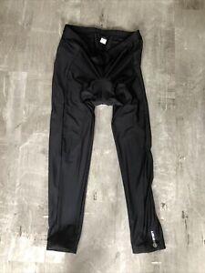 Canari Mens Sz XXL Black Padded Cycling Ankle Tights Pants NWOT