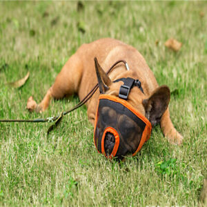 Breathable Mesh Short Snout Pet Dog Muzzle Comfortable Adjustable French Bulldog