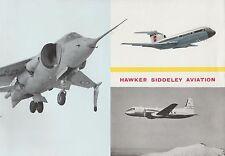 brochure sur le hawker siddeley aviation (1963)