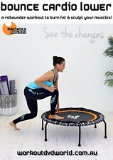 Rebounder Mini Trampoline EXERCISE DVD Barlates Body Blitz BOUNCE CARDIO LOWER