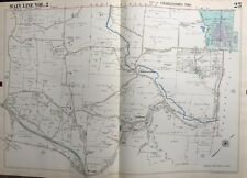 ORIG 1950 MAIN LINE, CHESTER CO. PA, CHARLESTOWN VALLEY FORGE HOSPITAL ATLAS MAP