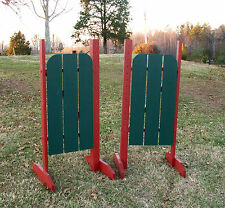 Horse Jumps 3 Panel Barn Door Wing Standards 6ft/Pair - Color Choice #218