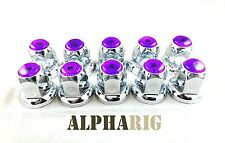 Universal -Lug Nut Cover with Flange- PURPLE - (Multiple colors available)