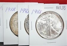 1988 Silver American Eagle BU 1 oz Coin $1 Dollar Uncirculated Toned U.S. Mint