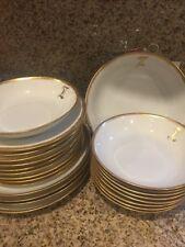 Waimar Germany Porcelain Vintage Dinner Set White Gold 23 Pieces